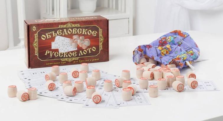 Игра Объедовское Русское лото в картонной коробке