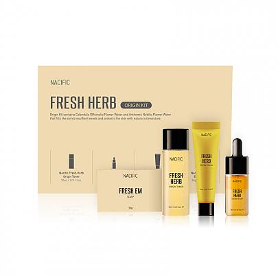 NACIFIC Набор Миниатюр Fresh Herb Origin Kit (Мыло 30гр+ Тонер 30мл+ Серум 10мл+ Крем 20мл)