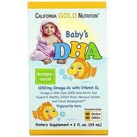 California Gold Nutrition, ДГК для детей, омега-3 с витамином D3, 1050 мг, 59 мл (2 жидк. унции)