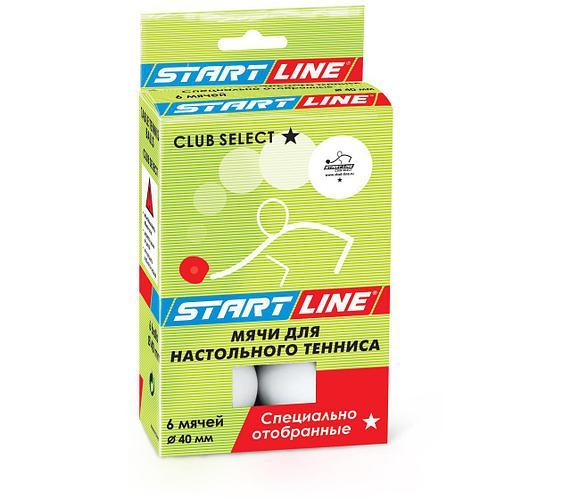 Шарики теннисные Club Select 1* (6 мячей в упаковке, белые)