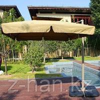 Зонт квадратный бежевый 3х3 с камнями