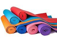 Коврик для йоги, пилатеса (61х173х0.6 см) ПВХ, с чехлом