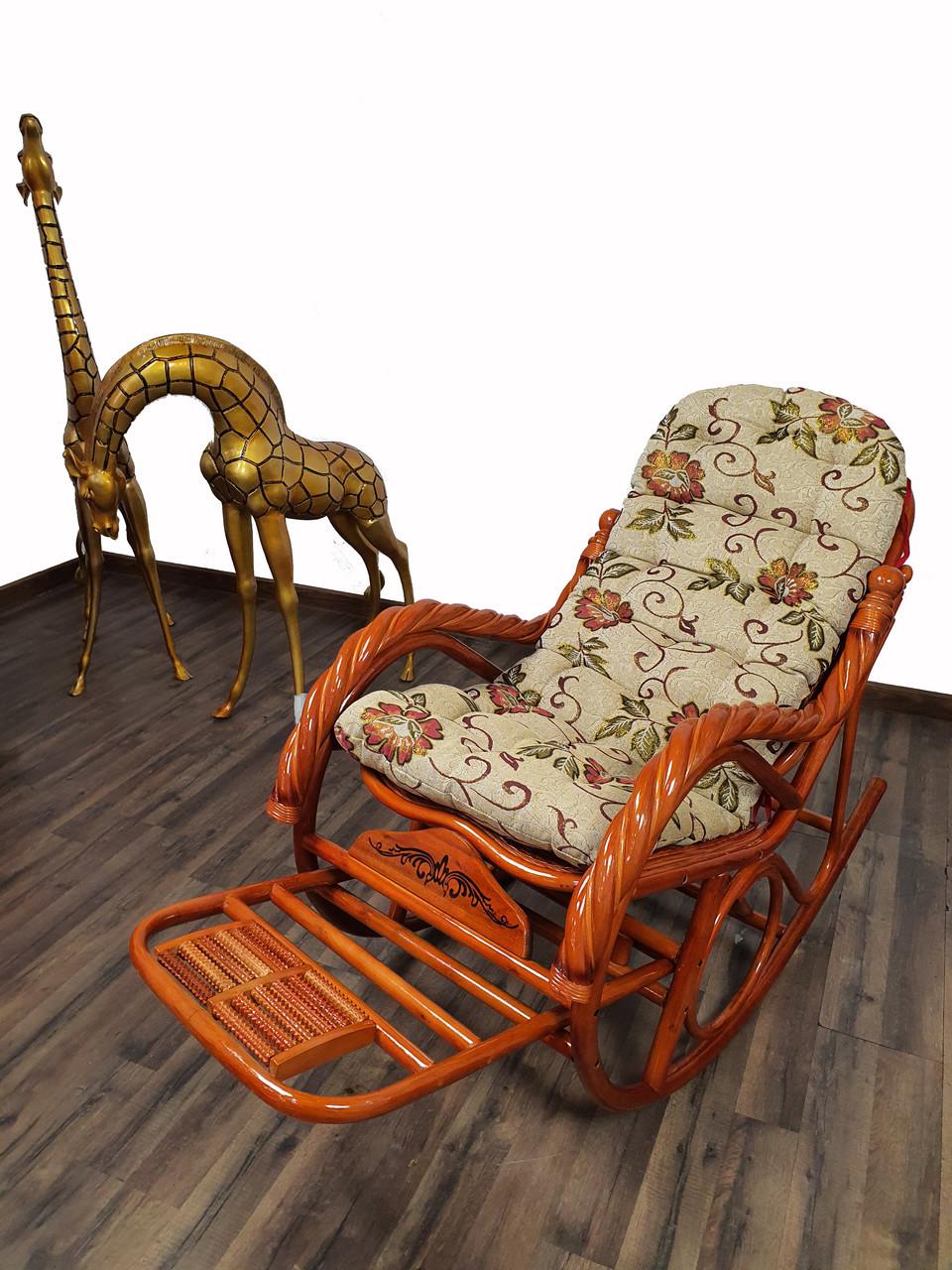 Кресло качалка из ротанги (плетен.) - фото 1