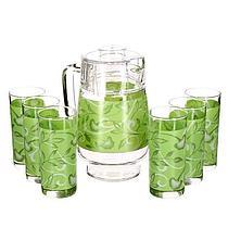 Графин со стаканами Luminarc Plenitude Green(7 предметов)