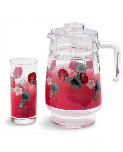 Графин со стаканами Luminarc Fruitissimo Strawberry (7 предметов)