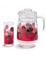 Графин со стаканами Luminarc Fruitissimo Strawberry (7 предметов), фото 1