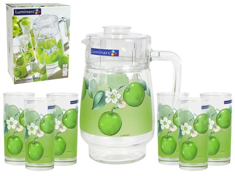 Графин со стаканами Luminarc Fruitissimo Apple (7 предметов)