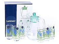Графин со стаканами Luminarc Blue Flora (7 предметов)