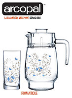 Графин со стаканами Arcopal Romantique (7 предметов), фото 1