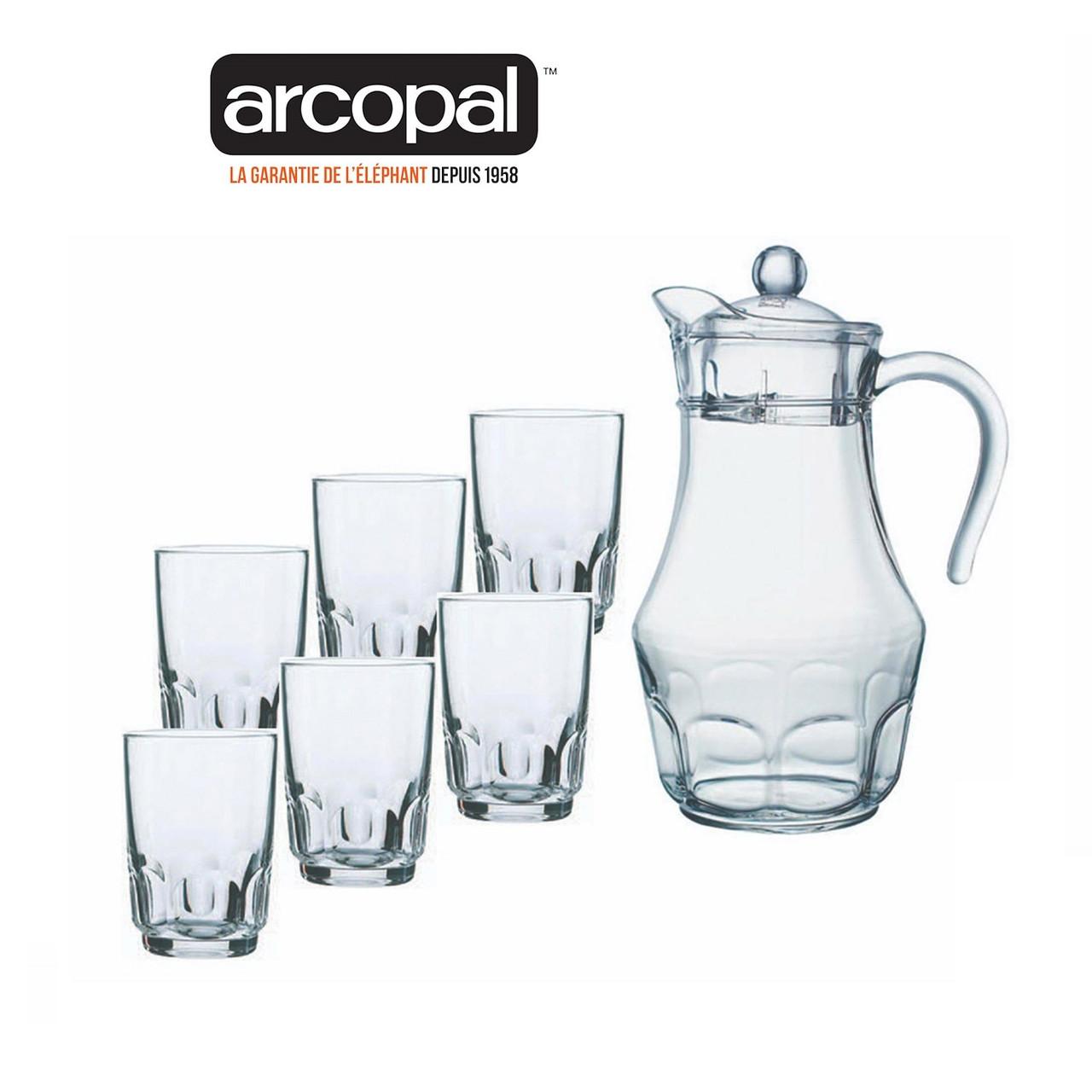 Графин со стаканами Arcopal Roc (7 предметов)