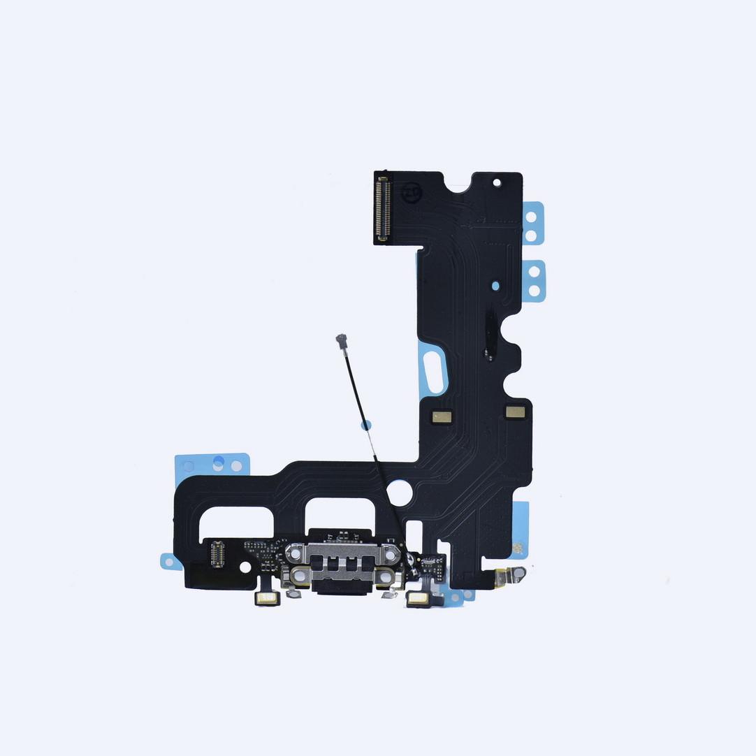 Шлейф Apple iPhone 7G с коннектором заряда и разъемом гарнитуры Black (50)