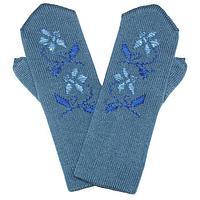Варежки женские, цвет серо-голубой, размер 18