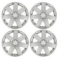 Колпаки колесные R16 'ГАЛАКСИ', серебристый карбон, набор 4 шт.