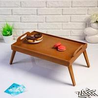 Столик для завтрака, с ручками 'Сканди', 47x30x21 см, орех