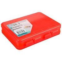 Коробка для воблеров и балансиров ВБ-3, цвет красный, 2-сторонняя, 55 отделений, 200 x 160 x 45 мм