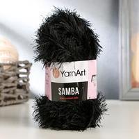 Пряжа 'Samba' 100 полиэстер 150м/100гр (02 черный)