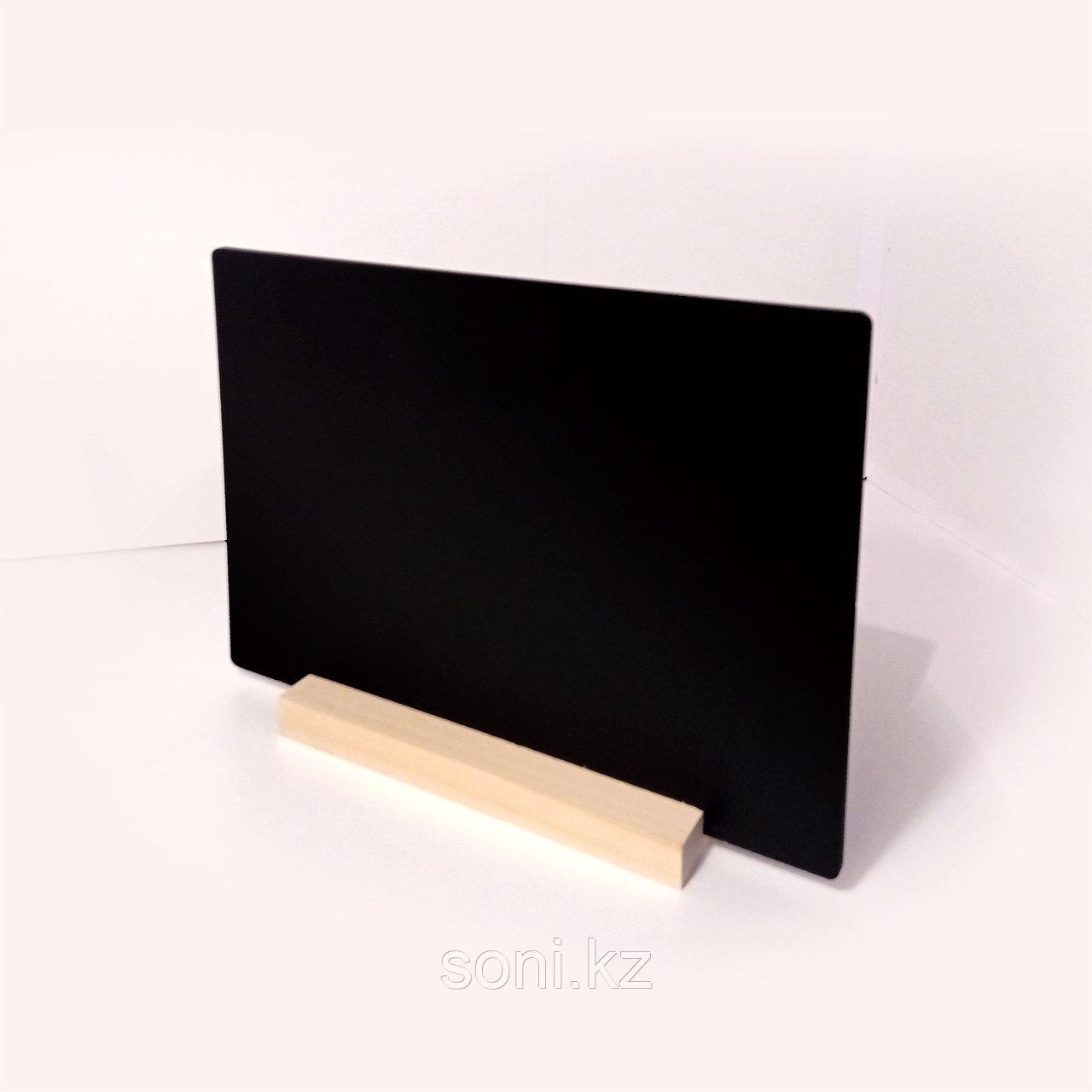 Настольная табличка А4 на деревянной подставке