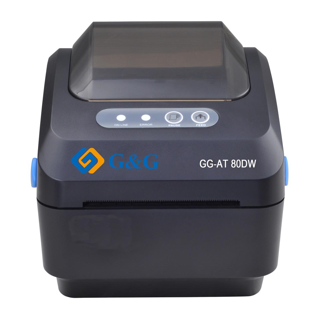 Портативный принтер для печати этикеток G&G   GG-AT-80DW