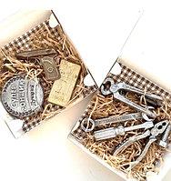 """Набор сладостей подарочный """"День защитника отечества"""" (шоколад в картонной коробке 17см х 17см), фото 1"""