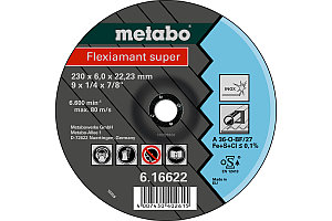 Шлифовальный диск Metabo (Flexiamant super) 230 x 6,0 x 22,23 мм, INOX SF 27