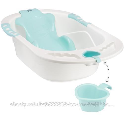 Ванна Happy baby с анатомической горкой Bath comfort (голубая,желтая)