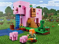 LEGO Minecraft 21170 Дом-свинья, конструктор ЛЕГО
