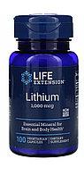 Литий Lithium 1000 мг. LIFE extension.100 капсул.