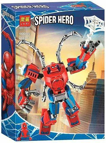 Lari Spider Hero 11496 Конструктор Человек-Паук: трансформер (Аналог LEGO 76146)