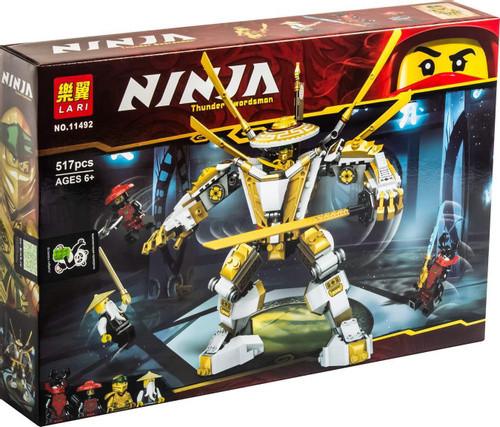 Lari Ninja 11492 Конструктор Золотой робот Ллойда, 517 дет. (Аналог LEGO 71702)