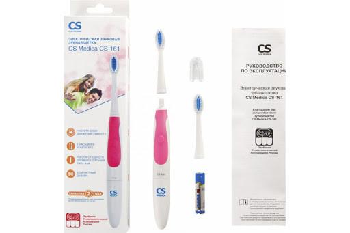 CS Medica: Электрическая звуковая зубная щетка CS-161, розовая - фото 1