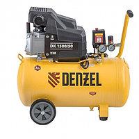 Компрессор воздушный DK1500/50, Х-PRO 1,5 кВт, 230 л/мин, 50 л Denzel