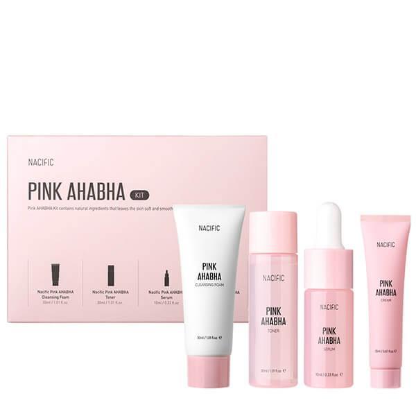 NACIFIC Набор отшелушивающих средств с арбузом и кислотами в миниатюре Pink AHABHA Kit