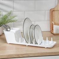 Сушилка для посуды Виолет Mini, 39x12,5x11 см, цвет белый