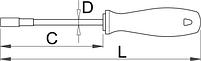 Отвёртка с внутренним шестигранником, рукоятка CR - 629CR UNIOR, фото 2