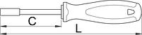 Отвёртка внутренний шестигранник изолированная, рукоятка TBI - 629VDETBI UNIOR, фото 2