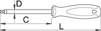 Отвёртка четырёхгранник, рукоятка TBI - 622TBI UNIOR, фото 2