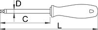 Отвёртка четырёхгранник, рукоятка CR - 622CR UNIOR, фото 2