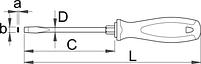 Отвёртка шлицевая с шестигранным основанием рабочей части, рукоятка TBI - 600TBI UNIOR, фото 2