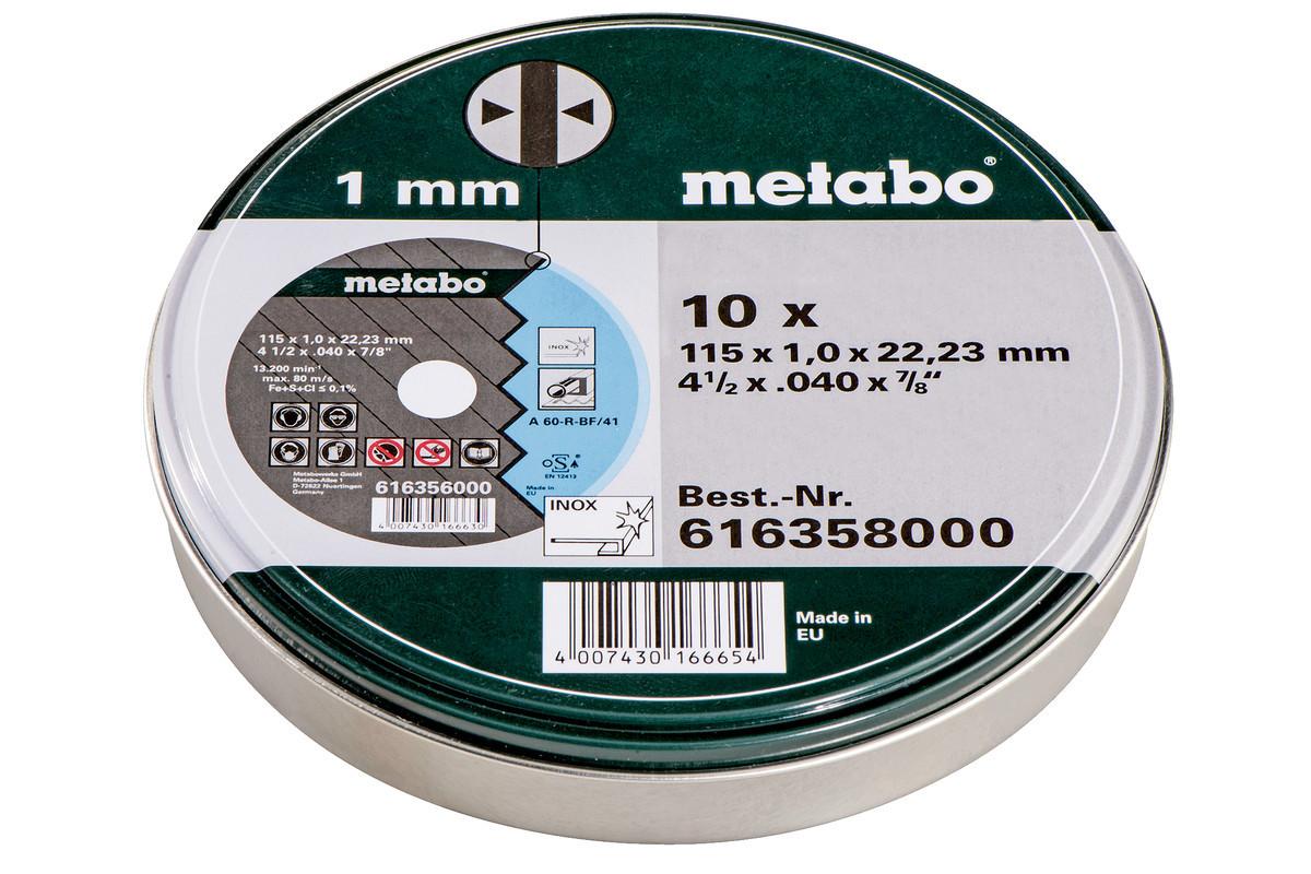 Отрезной диск Metabo SP 115X1,0X22,23 INOX, TF 41