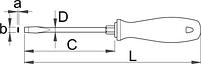 Отвёртка шлицевая с шестигранным основанием, рукоятка CR - 600CR UNIOR, фото 2