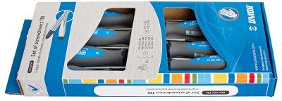 Набор отвёрток, рукоятки TBI, в картонной упаковке - 607CS7TBI UNIOR