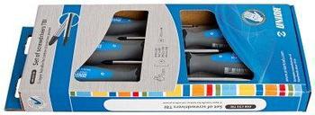Набор отвёрток, рукоятки TBI, в картонной упаковке - 608CS5TBI UNIOR