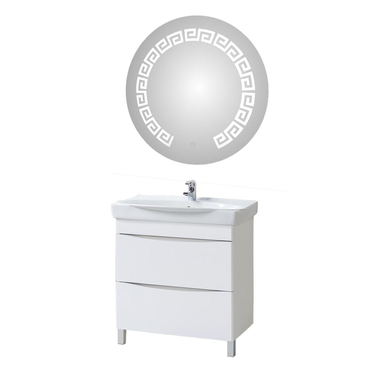"Комплект тумба ""Верна"" 80 с зеркалом LED059-80-80"