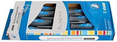 Набор отвёрток с профилем TORX, рукоятки TBI, в картонной упаковке - 621CS7TBI UNIOR