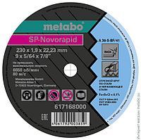 Круг отрезной по нержавеющей стали Metabo SP-Novorapid 230x1.9x22,23