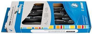 Набор отвёрток, рукоятки CR, в картонной упаковке - 609CS7CR UNIOR