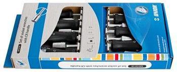 Набор отвёрток с внутренним шестигранником, рукоятки CR, в картонной упаковке - 629CS7CR UNIOR