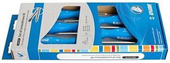 Набор отвёрток, рукоятки NI, в картонной упаковке - 608CS5NI UNIOR