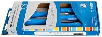 Набор отвёрток, рукоятки NI, в картонной упаковке - 606B5NI UNIOR