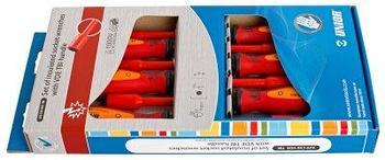 Набор отвёрток с внутренним шестигранником изолированных, рукоятки TBI, в картонной упаковке - 629CS6VDETBI